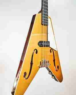 Blast Cult Hollow Vee Electric Bass – Gold Top