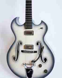 UKDC Hollow Body Electric Guitar – Antique Ivory