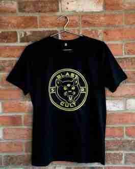 Blast Cult Organic Cotton Tee – Gold/Black Three Eye Cat