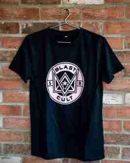 Blast Cult Organic Cotton Tee – Pink/Black Crest