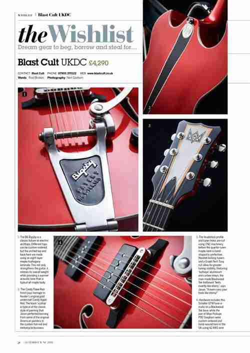 Blast Cult UKDC is on the Wish List of this month's Guitarist Magazine